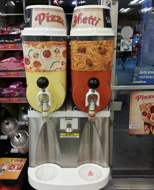 pizza és spagetti ízű jeges ital