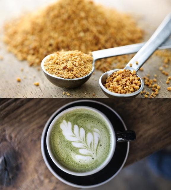 kókuszcukor és matcha tea