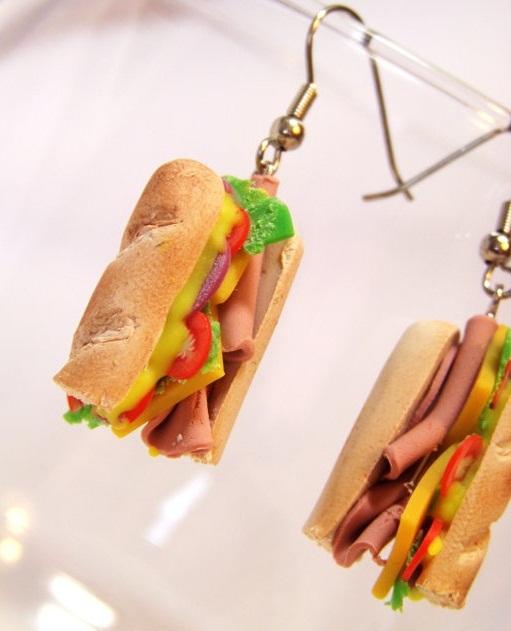 szendvics fülbevaló