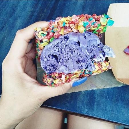 fagylalt gabonapehely-szeletben