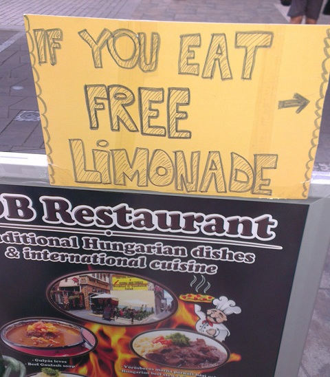étterem félrefordítás