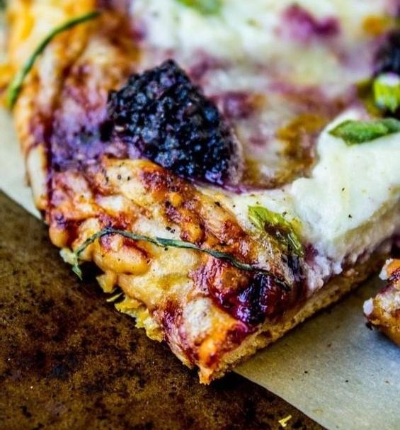gyümölcsös pizza