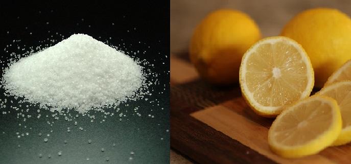 szódabikarbóna és citromlé
